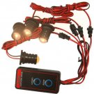 HQRP 4-LED Amber Headlight Emergency Car Flash Strobe Light Warning Lamp Kit 12V
