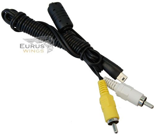 HQRP AV Cable for Canon PowerShot A2400 A3000 A3100 A3300 A3400 A4000 IS A810
