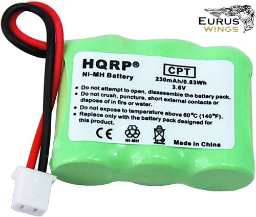 HQRP Battery for Dogtra BP-20R BP20R Dog Training Collar Receiver Replacement