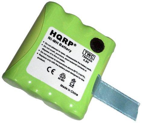 2x HQRP Two-Way Radio Batteries for Midland BATT6R, LXT-480, LXT-490, LXT-490VP3