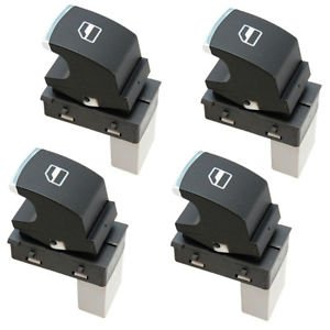 4-Pack HQRP Passenger Window Power Switches for VW Tiguan Golf Passat CC Jetta
