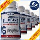 360 BIG BEARD PILLS FAST GROW FACIAL HAIR MUSTACHE CAPSULES BEST GROWTH VITAMINS