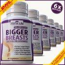 6 x  BIGGER BREASTS ENLARGEMENT PILLS CAPSULES BUST ENHANCER