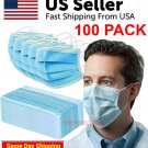 100 PCS Face Mask No Medical Surgical Dental Disposable 3Ply Earloop Mouth Cover