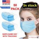 50 PCS Face Mask MEDICAL Surgical Dental Disposable ATSM LEVEL 3 Mouth Cover Ear   BBG