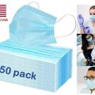 50 PCS Face Mask Medical Quality Surgical Dental Disposable 3-Ply Earloop  DFH