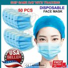 [50 PCS] 3-PLY Disposable Face Mask Non-Medical Earloop Mouth Nose Dust Cover  IKYU