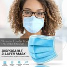 50 PC Face Mask[BLUE]Non Medical Surgical Disposable 3-Ply Elasticated Coverings