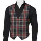 Scottish Black Stewart Tartan Vest / Irish Formal Tartan Waistcoats - 4 Plaids