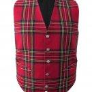 Scottish Royal Stewart Vest / Irish Formal Tartan Waistcoats - 4 Plaids