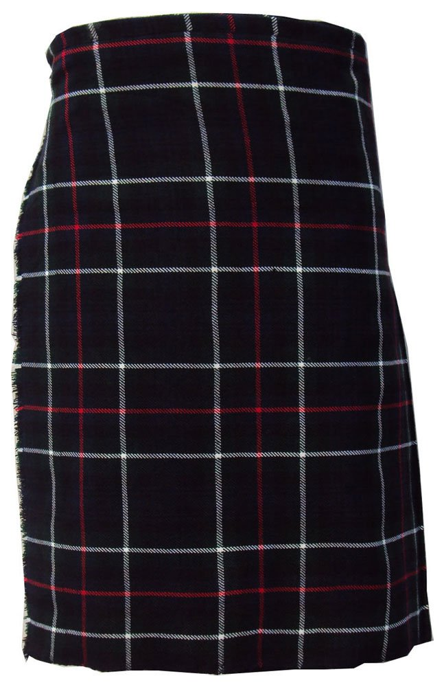 Scottish Mackenzie 8 Yard Tartan Kilt For Men 26 Waist Size Traditional Tartan Kilt