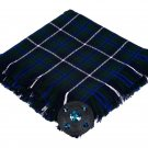 High Quality Scottish Kilt Fly Plaid Purled, Fringed Acrylic Wool In Douglas Blue Tartan
