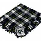 High Quality Scottish Kilt Fly Plaid Purled, Fringed Acrylic Wool In Dress Gordon Tartan