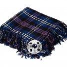 High Quality Scottish Kilt Fly Plaid Purled, Fringed Acrylic Wool In Heritage Of Scotland Tartan