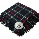 High Quality Scottish Kilt Fly Plaid Purled, Fringed Acrylic Wool In Mackenzie Tartan