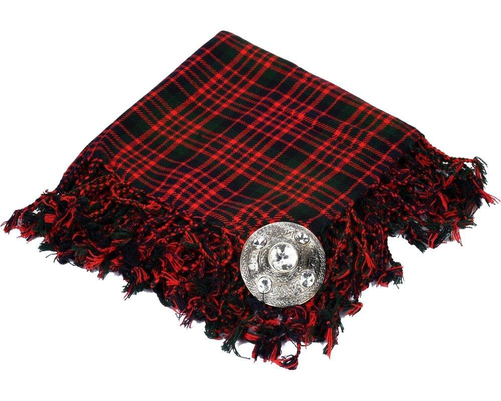 High Quality Scottish Kilt Fly Plaid Purled, Fringed Acrylic Wool In McDonald Tartan