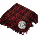 High Quality Scottish Kilt Fly Plaid Purled, Fringed Acrylic Wool In McDonald Tartan