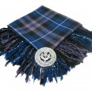 High Quality Scottish Kilt Fly Plaid Purled, Fringed Acrylic Wool In Pride Of Scotland Tartan
