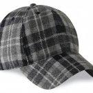 Men / Women Fashion Leisure Grid Fad All-Match Gray Watch Tartan Plaid Baseball Cap Peaked Cap