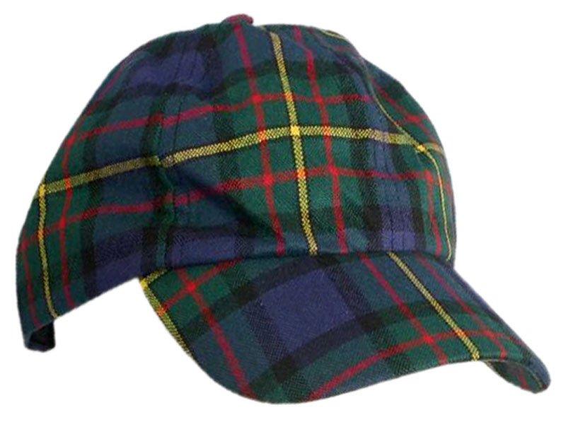 Men / Women Fashion Leisure Grid Fad All-Match Hunting Stewart Tartan Plaid Baseball Cap Peaked Cap