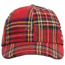 Men / Women Fashion Leisure Grid Fad All-Match Royal Stewart Tartan Plaid Baseball Cap Peaked Cap