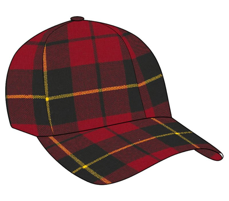 Men / Women Fashion Leisure Grid Fad All-Match Wallace Tartan Plaid Baseball Cap Peaked Cap