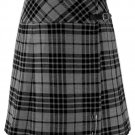 Ladies Grey Watch Tartan Mini Billie Kilt Mod Skirt Girls Mini Billie Skirt