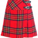 Ladies Royal Stewart Tartan Mini Billie Kilt Mod Skirt Girls Mini Billie Skirt