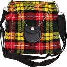 Scottish Buchanan Tartan Ladies Kilt Shaped Purse, Traditional Clothing Hand Bag