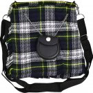 Scottish Dress Gordon Tartan Ladies Kilt Shaped Purse, Traditional Clothing Hand Bag