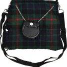 Scottish Gunn Tartan Ladies Kilt Shaped Purse, Traditional Clothing Hand Bag