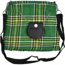 Scottish Irish National Tartan Ladies Kilt Shaped Purse, Traditional Clothing Hand Bag