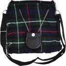 Scottish Mackenzie Tartan Ladies Kilt Shaped Purse, Traditional Clothing Hand Bag