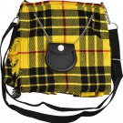 Scottish McLeod Of Lewis Tartan Ladies Kilt Shaped Purse, Traditional Clothing Hand Bag