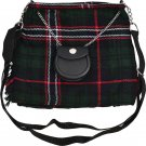 Scottish National Tartan Ladies Kilt Shaped Purse, Traditional Clothing Hand Bag