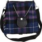 Scottish Pride Of Scotland Tartan Ladies Kilt Shaped Purse, Traditional Clothing Hand Bag