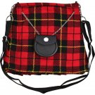 Scottish Wallace Tartan Ladies Kilt Shaped Purse, Traditional Clothing Hand Bag