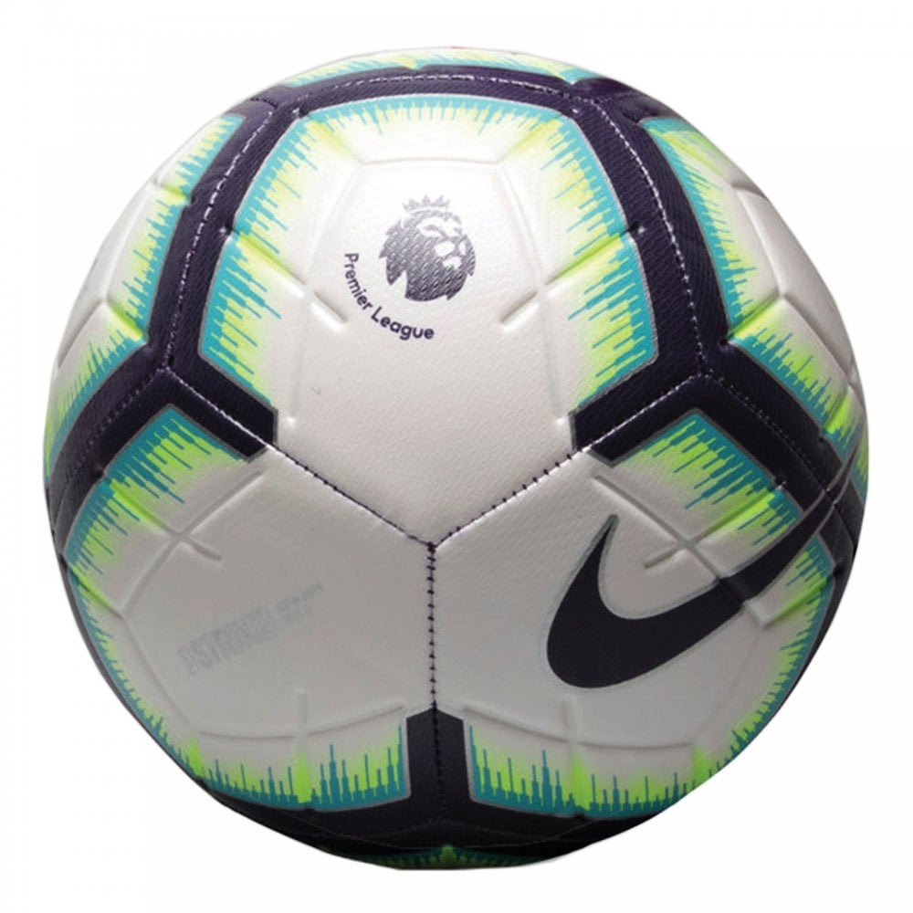 NIKE 2018-2019 EPL Strike Soccer Ball White/Blue/Purple - Size 5