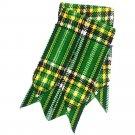100% Acrylic Wool Irish National Tartan Kilt Flashes Tartan Kilt Hose Flashes with Garters