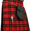 Traditional Wallace Tartan 5 Yard 13oz. Scottish Kilt 46 Waist Size Dress Skirt Tartan Kilts