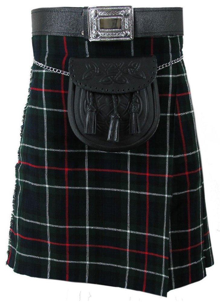 Traditional Mackenzie Tartan 5 Yard 13oz. Scottish Kilt 28 Waist Size Dress Skirt Tartan Kilts