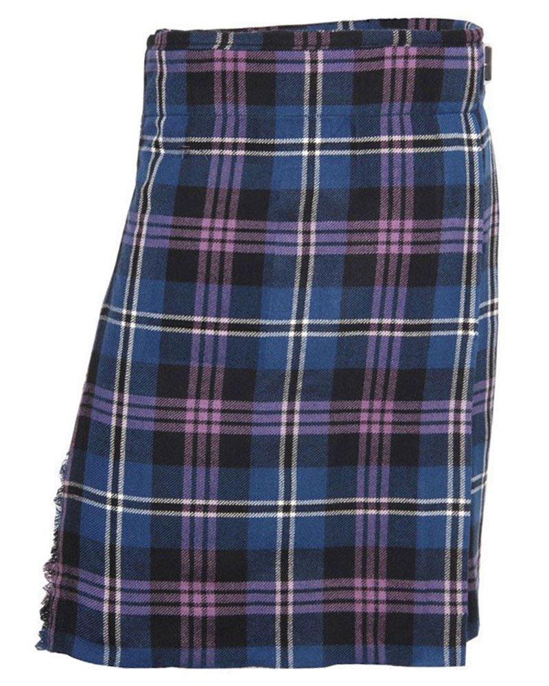 Traditional Heritage Of Scotland Tartan 5 Yard 13oz. Scottish Kilt 58 Waist Size Dress Tartan Skirt
