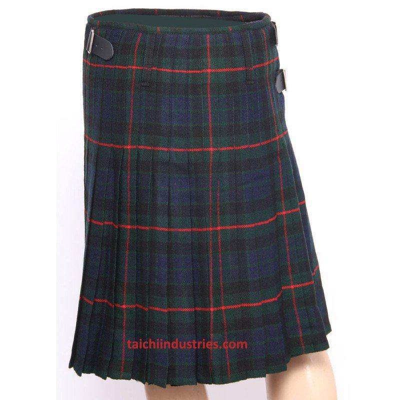 Traditional Gunn Tartan 5 Yard 13oz. Scottish Kilt 30 Waist Size Dress Skirt Tartan Kilts