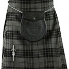 Traditional Gray Watch Tartan 5 Yard 13oz. Scottish Kilt 28 Waist Size Dress Skirt Tartan Kilts