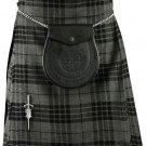 Traditional Gray Watch Tartan 5 Yard 13oz. Scottish Kilt 34 Waist Size Dress Skirt Tartan Kilts