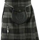 Traditional Gray Watch Tartan 5 Yard 13oz. Scottish Kilt 46 Waist Size Dress Skirt Tartan Kilts