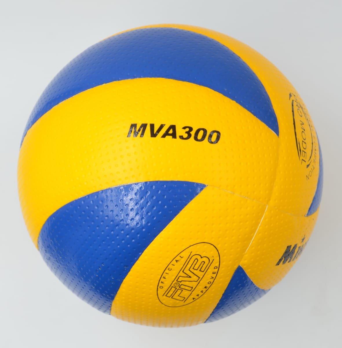 Mikasa MVA300 Olympic Indoor Volleyball, Blue/Yellow