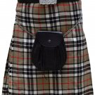 Traditional Camel Thompson Tartan 5 Yard Scottish Kilt 46 Waist Size Dress Skirt Tartan Kilts
