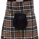 Traditional Camel Thompson Tartan 5 Yard Scottish Kilt 50 Waist Size Dress Skirt Tartan Kilts