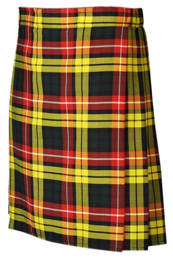 Traditional Buchanan 13oz. Tartan 5 Yard Scottish Kilt 28 Waist Size Dress Skirt Tartan Kilts